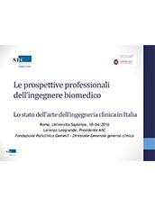 Le prospettive professionale dell Ingegnere Biomedico