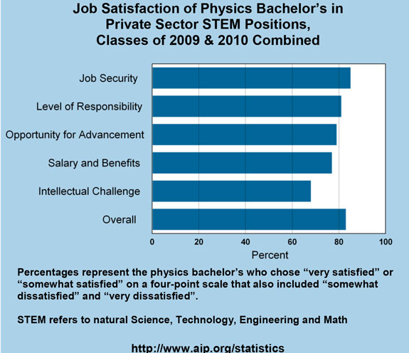 Job Satisfaction of Physics Bachelor\u0027s in Private Sector STEM