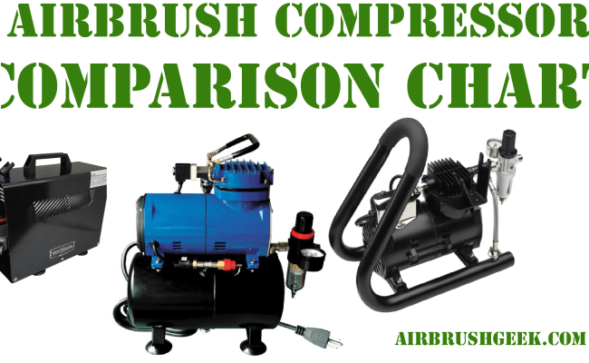 Airbrush compressors comparison chart