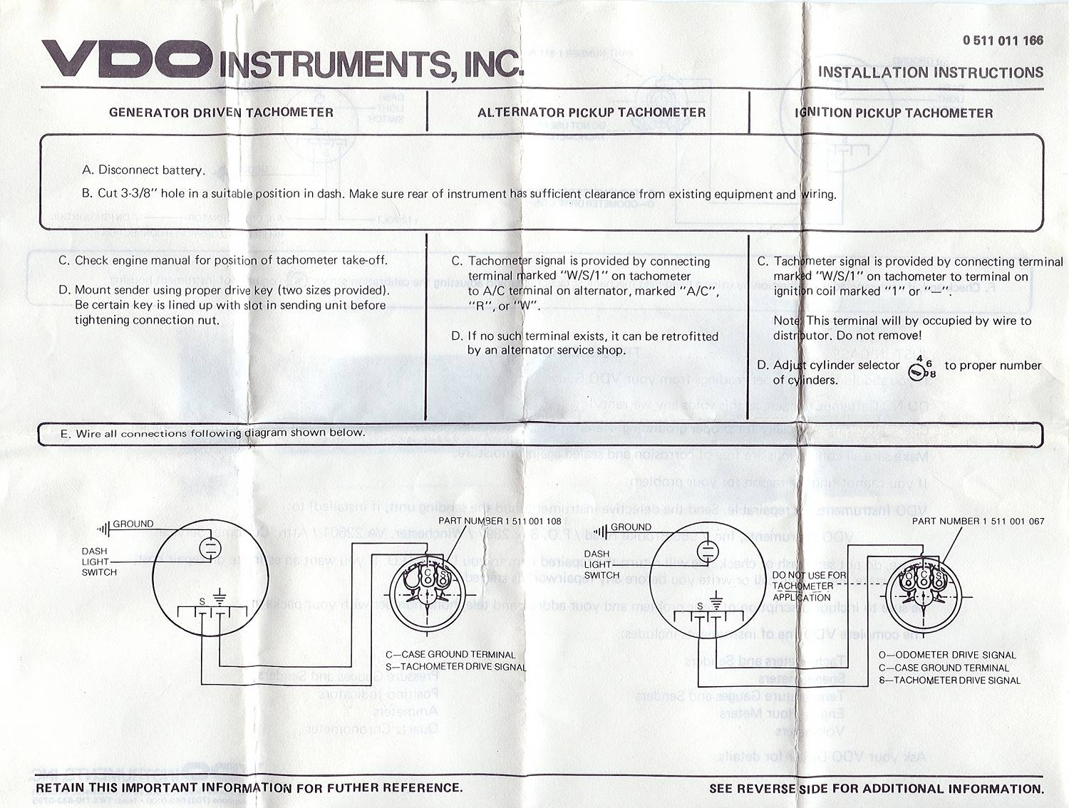 Tac Wire Diagram Auto Electrical Wiring 2002 Chrysler Town And Country 3 8 Engine Vdo Tacho 24 Images
