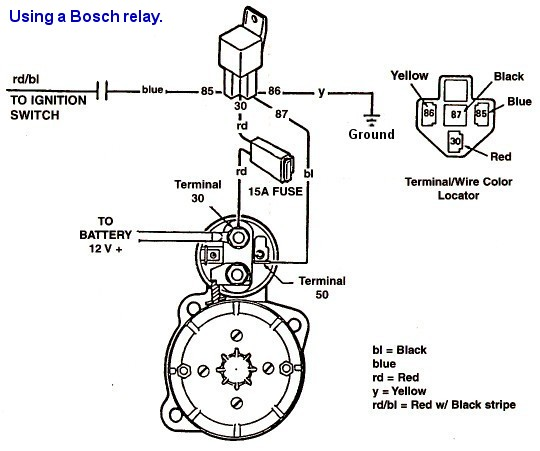 bosch starter relay wiring diagram