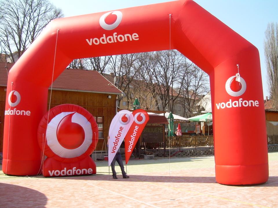 Inflatable Logo Vodafone Air Shape