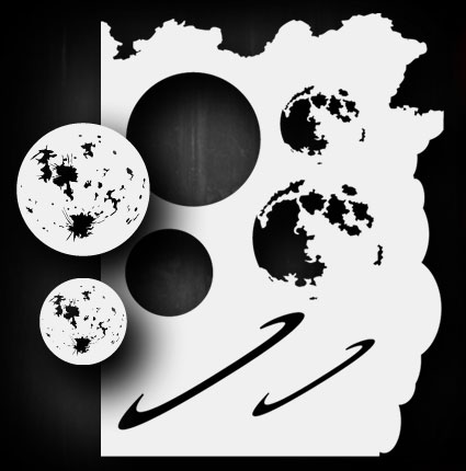 Moon / Planet Set Airbrush Stencil Template Airsick 723810974780 eBay - airbrush templates