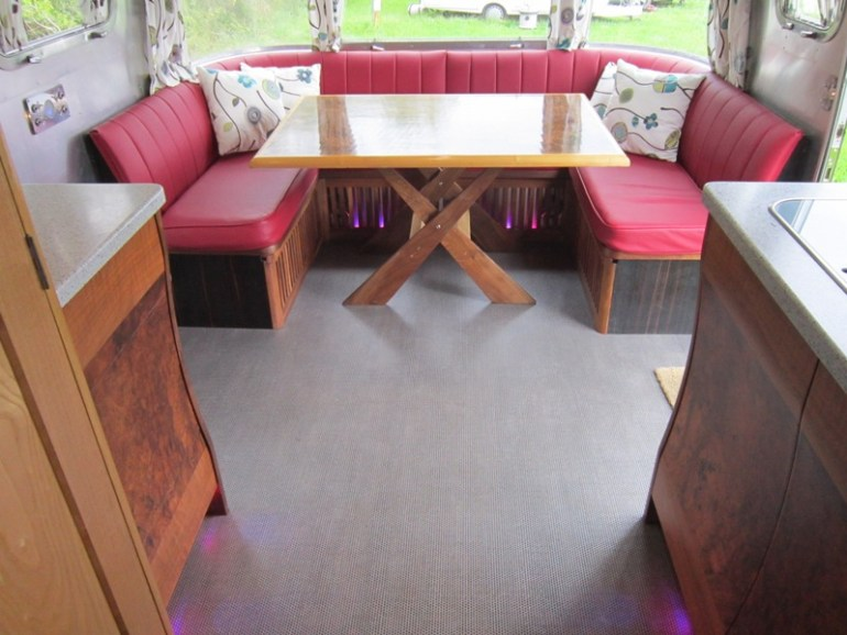 Front seating area which can be converted to a double bed