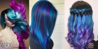 15+ Pink, Teal and Blue Ombre Hair Extension Color ...