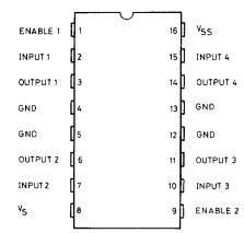 h bridge ic pin diagram