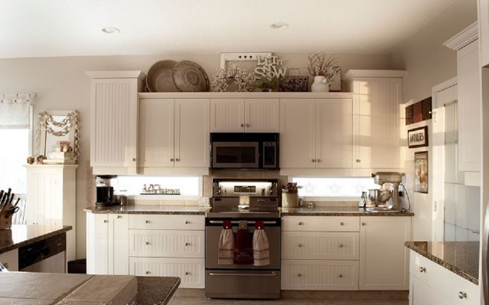 10 Ideas For Decorating Above Kitchen Cabinets Kitchen Cabinets