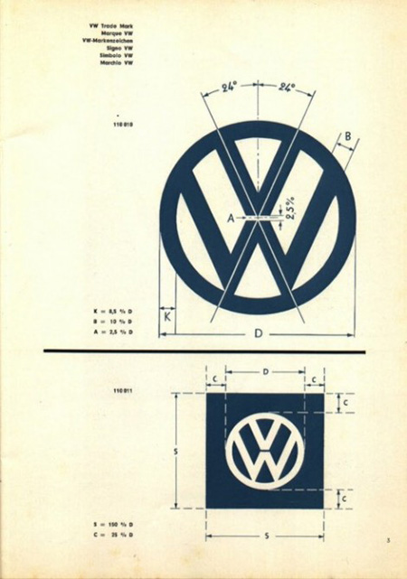 Vw logo specifications