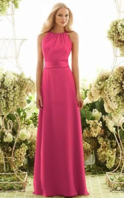 Floor-length Natural A-line Jewel Sleeveless Bridesmaid Dresses_1