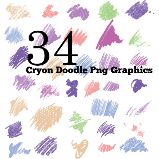 Free 34 Crayon doodle scribbled PNGs Graphics