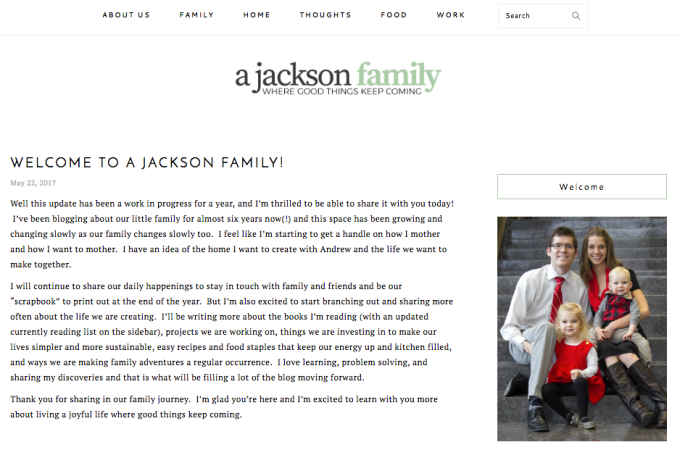 Welcome to A Jackson Family!