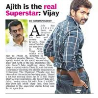Ajith is the Real SuperStar : ArunVijay