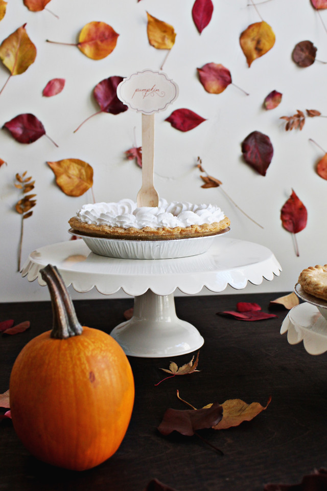 Thanksgiving Pie Labels, Free Printable | A Joyful Riot @ajoyfulriot
