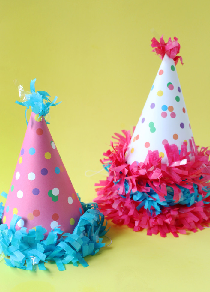 Free printable confetti sprinkle party hat  templates from A Joyful Riot