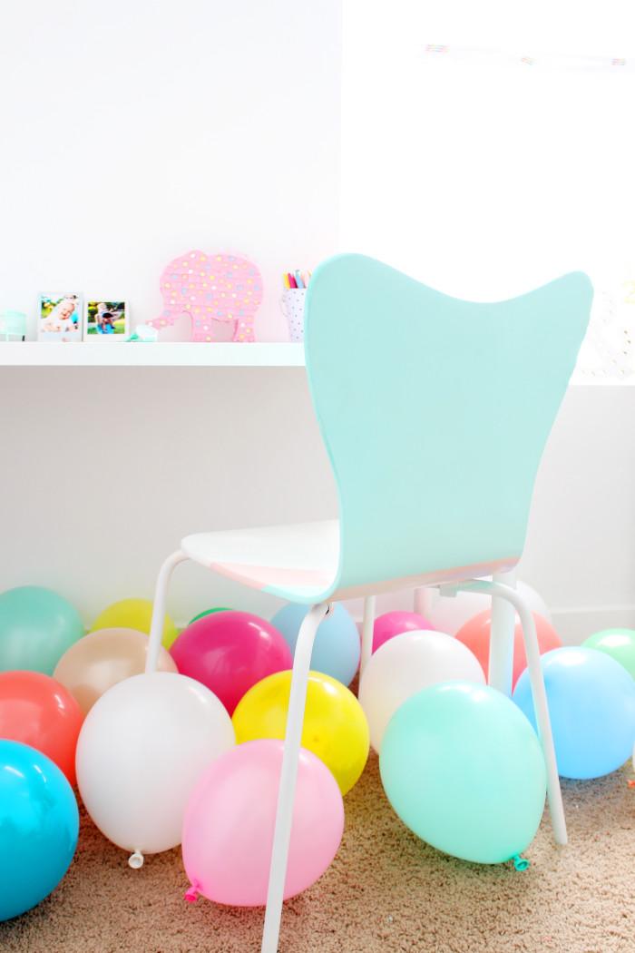DIY colorblocked office chair | A Joyful Riot