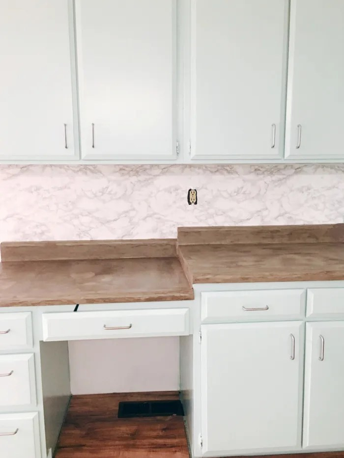 diy marble contact paper backsplash a joyful riot. Black Bedroom Furniture Sets. Home Design Ideas