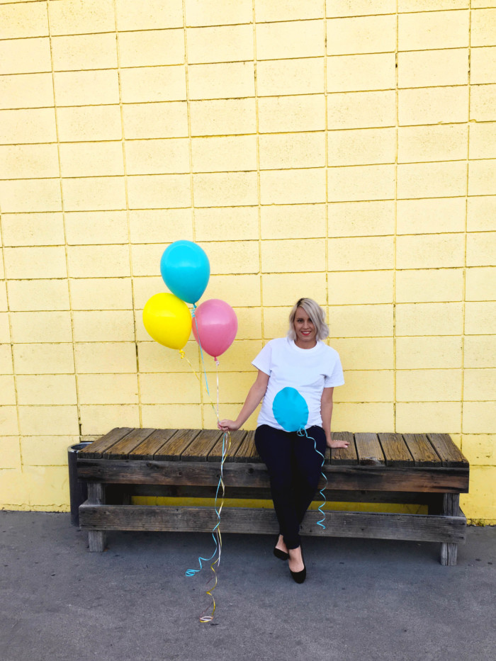DIY balloon belly easy maternity costume. Just a shirt and felt. Free templates in post! | A Joyful Riot