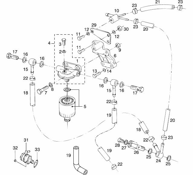 marine diesel fuel filter system
