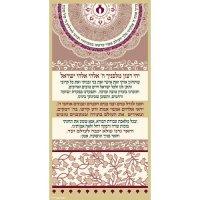 Shabbat Candle Lighting Prayer Canvas by Dorit Klein ...