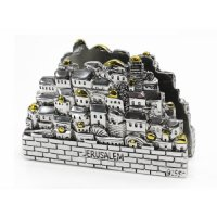 Silver Plated Jerusalem Napkin Holder | aJudaica.com