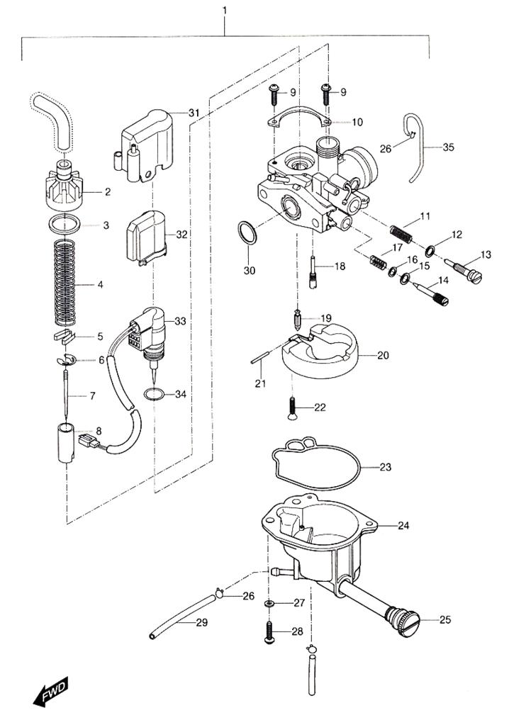 50cc moped carburetor diagram