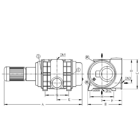 Pfeiffer Vacuum Okta 8000 Roots vacuum pump 400/690 V, 50 Hz, 3TF
