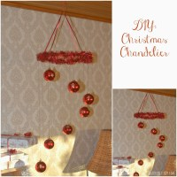 DIY: Easy To Make Christmas Balls Chandelier