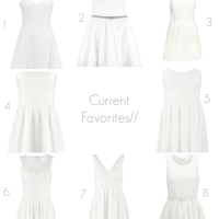Current Favorites/ White Dresses For Spring