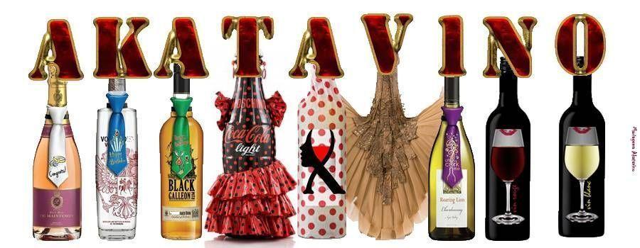 Cartel Etiquetas y Botellas corbatas web © akataVino