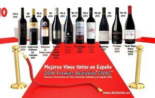 Cartel Los 10 Mejores Vinos Tintos 2016 en España v2 by akataVino