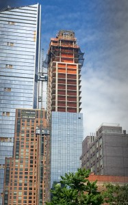 High Line tower under construction, May 2016