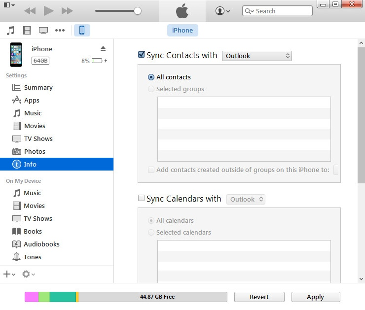 iTunes Alternatives for Syncing With Outlook AkrutoSync
