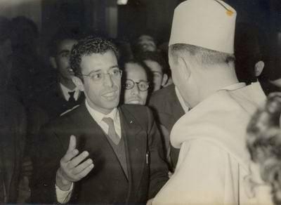 المناضل الاممي والمجاهد الاستاذ رشيد سكيرج الخزرجي الانصاري مؤسس جهاز الامن الوطني والمخابرات بالمملكة المغربية