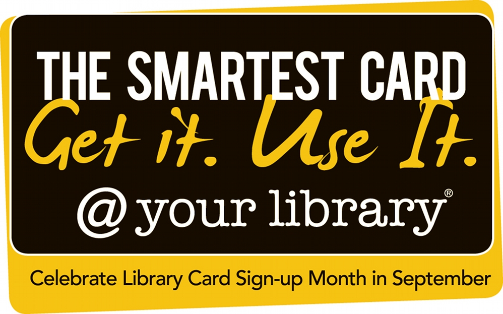 Speech bubble A Library Card Excelsior! Library Card Sign-up - library card