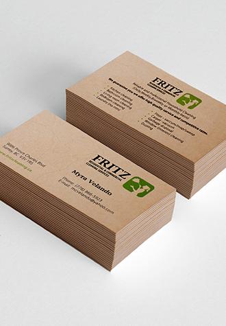 Exclusive Brown Kraft Business Cards Online Aladdinprint
