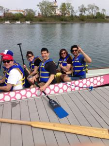 Dragon boat with friends