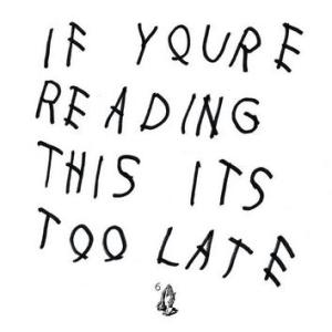 Drake's newest album cover. Photo courtesy of itunes.apple.com