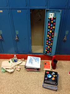 Emptying the locker will help you sort through it.