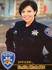 Mrak joined AHS this year. Photo courtesy of the Alameda Police Department