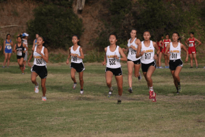The women's cross country team in action, photo courtesy of Scott Rowe