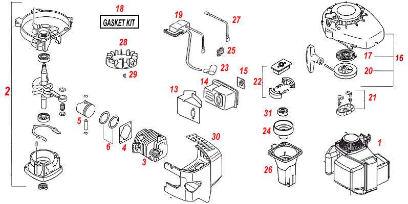 mantis tiller engine diagram