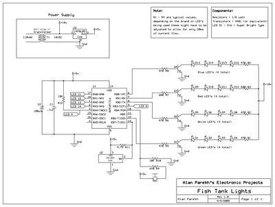 Fish Tank Lights and Temperature Sensor - Alan Parekh\u0027s Electronic