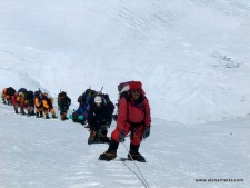 Everest 2012: Ropes Near the Summit