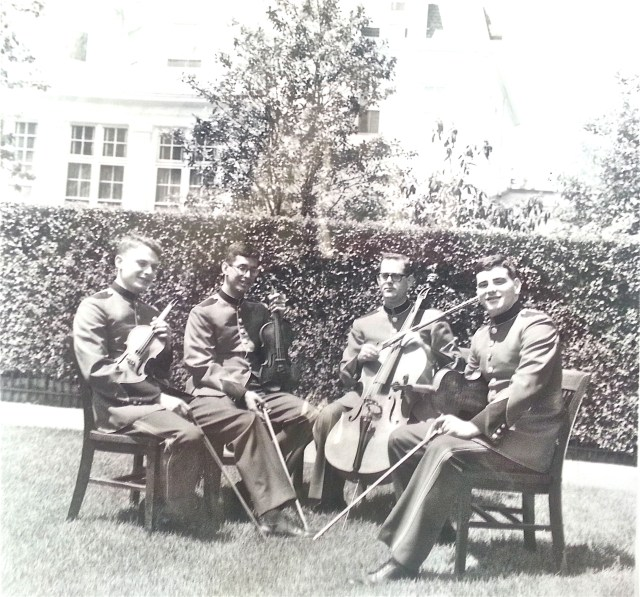 """THE WHITE HOUSE QUARTET"" on the lawn of the official residence of the Commandant of the U.S. Marine Corps"