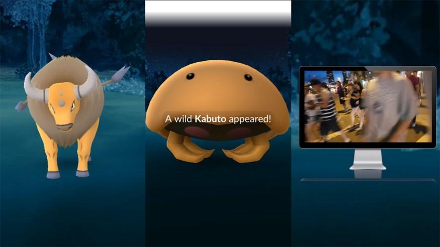 pokemon go rare kabuto spawn