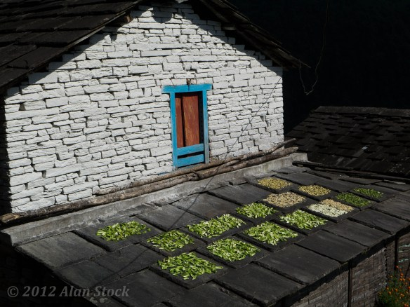 Drying food on the roofs in Chrommrong
