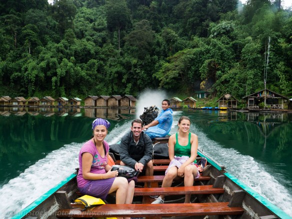 Floating accommodation in beautiful Khao Sok National Park