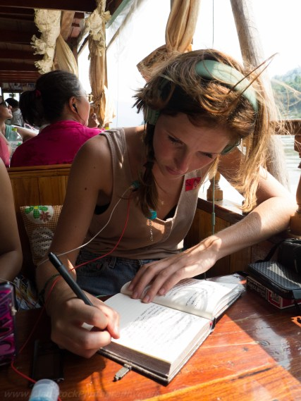Travelmate Backpacker Writing Diary Slow Boat Laos