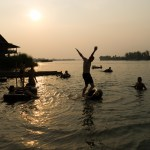 Travelmate Backpackers Sunset 1000 Islands Don Det Laos River Tubing
