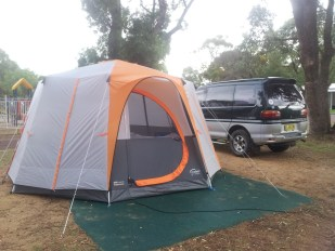 Our massive 10 man tent